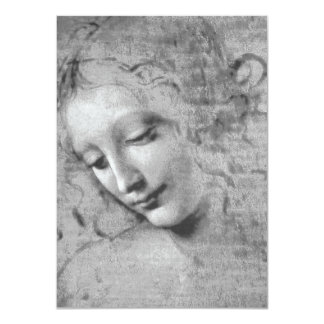 "La Scapigliata de Leonardo da Vinci Invitación 4.5"" X 6.25"""