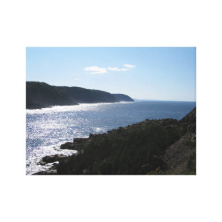 La Scie Newfoundland Canada - Harbour Cliffs Canvas Print