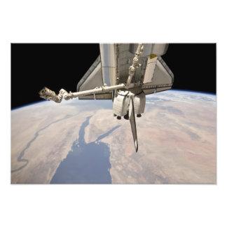 La sección en popa del transbordador espacial impresión fotográfica