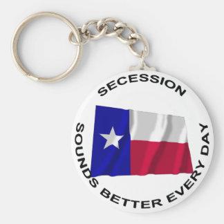 La secesión de Tejas suena mejor cada día Llavero Personalizado