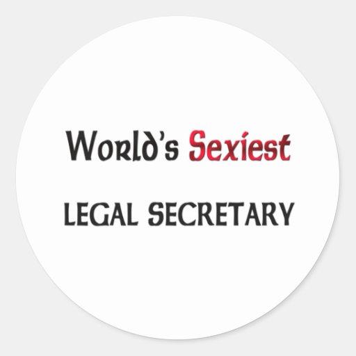 La secretaria legal más atractiva del mundo pegatina redonda