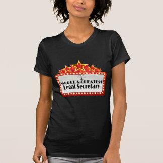 La secretaria legal más grande del mundo t shirt