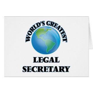 La secretaria legal más grande del mundo tarjeta