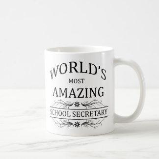 La secretaria más asombrosa de la escuela del taza de café