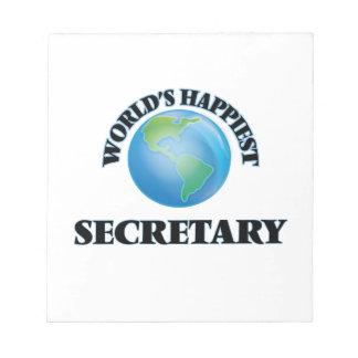 La secretaria más feliz del mundo bloc de papel