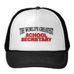 La secretaria más grande de la escuela del mundo gorro