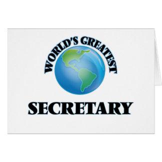 La secretaria más grande del mundo felicitación