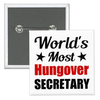 La secretaria más hungover Funny Drinking del Pin