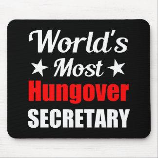 La secretaria más hungover Funny Drinking del Alfombrilla De Raton