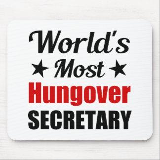 La secretaria más hungover Funny Drinking del Tapete De Ratones