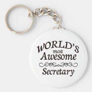 La secretaria más impresionante del mundo llavero redondo tipo pin
