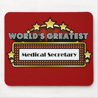 La secretaria médica más grande del mundo tapetes de ratón
