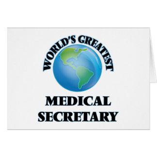 La secretaria médica más grande del mundo tarjetón