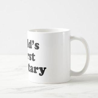 La secretaria peor del mundo taza básica blanca