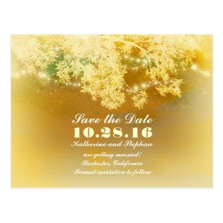 la secuencia amarilla enciende reserva romántica tarjeta postal