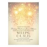 la secuencia del brillo enciende el boda elegante  invitacion personal