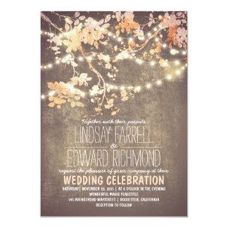 La secuencia enciende invitaciones lindas y de invitación 12,7 x 17,8 cm