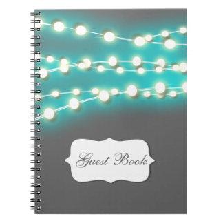 La secuencia enciende resplandor azul spiral notebooks