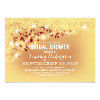 La secuencia rústica enciende la ducha nupcial anuncios