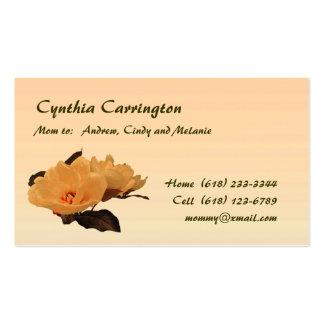 La seda florece a la mamá plantillas de tarjetas personales