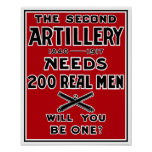 La segunda artillería necesita a 200 hombres póster