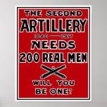 La segunda artillería necesita a 200 hombres reale impresiones
