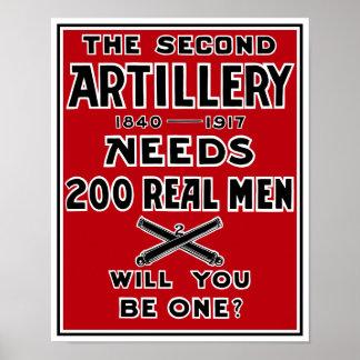La segunda artillería necesita a 200 hombres reale póster