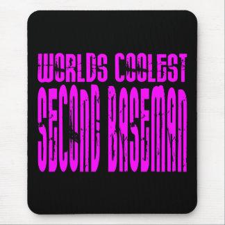 La segunda base más fresca de los mundos rosados mouse pads