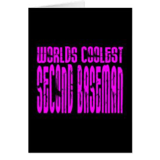 La segunda base más fresca de los mundos rosados tarjeta