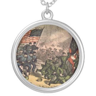 La segunda batalla de la guerra civil americana de colgante redondo