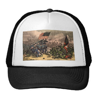 La segunda batalla de la guerra civil americana de gorras de camionero