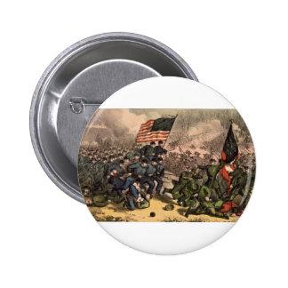 La segunda batalla de la guerra civil americana pin redondo de 2 pulgadas