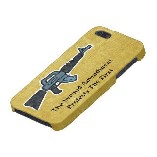 La segunda derecha de la enmienda de llevar arte d iPhone 5 cárcasa