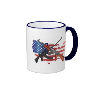 La segunda derecha de la enmienda de llevar la taza de dos colores