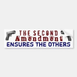La segunda enmienda asegura las otras pegatina para auto