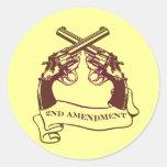 la segunda enmienda dispara contra a los pegatinas pegatinas redondas