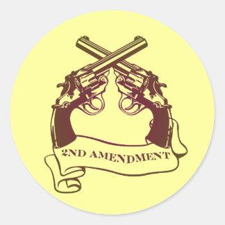 la segunda enmienda dispara contra a los pegatinas pegatina redonda