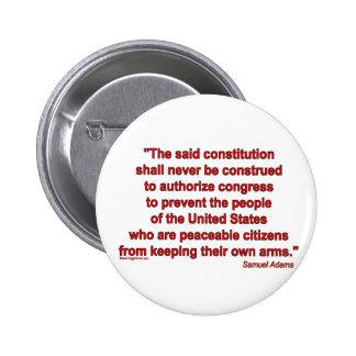 La segunda enmienda es un derecho individual pin redondo 5 cm