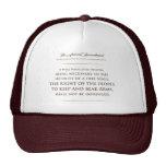 La segunda enmienda. gorra