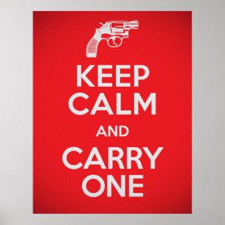 La segunda enmienda guarda calma y lleva un poster