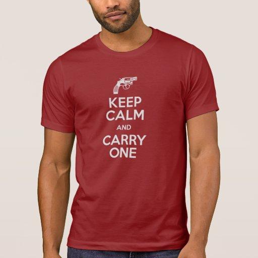 La segunda enmienda guarda calma y lleva uno camiseta