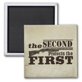 La segunda enmienda protege la Primera Enmienda Imán Cuadrado