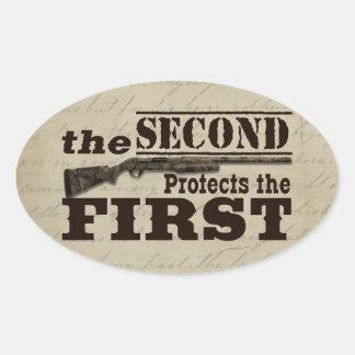 La segunda enmienda protege la Primera Enmienda Pegatinas De Ovaladas