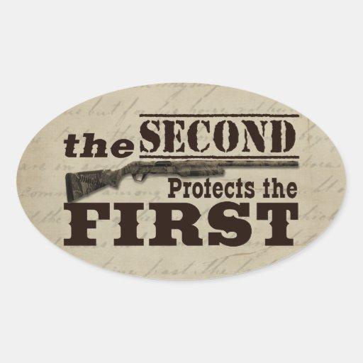 La segunda enmienda protege la Primera Enmienda Pegatina Ovalada