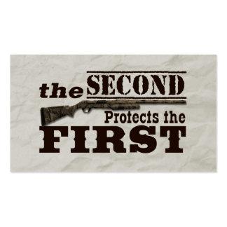 La segunda enmienda protege la Primera Enmienda Tarjetas De Visita