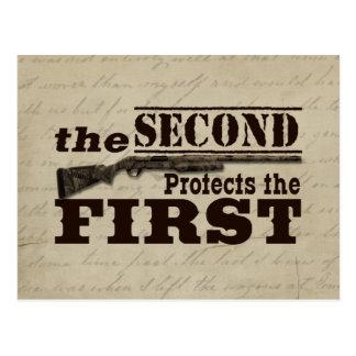 La segunda enmienda protege la Primera Enmienda Tarjeta Postal