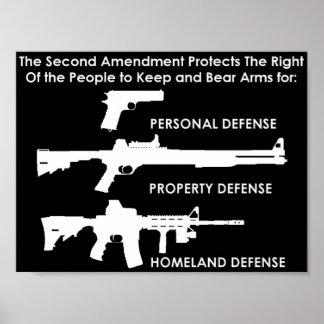 La segunda enmienda protege póster