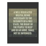 La segunda enmienda tarjeta postal