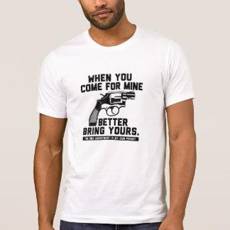 La segunda enmienda trae al suyo la camiseta playeras