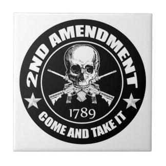 La segunda enmienda viene tomarle el cráneo y AR Azulejo Cuadrado Pequeño